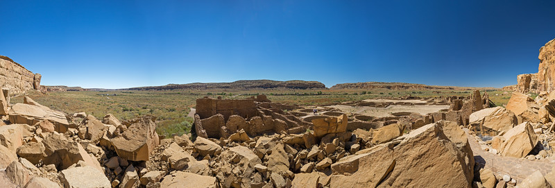 Chaco Culture National Historic Park Panorama from Bonita Pueblo