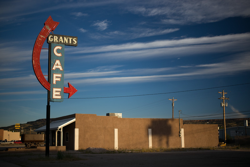 neon sign Grants Cafe Grants NM