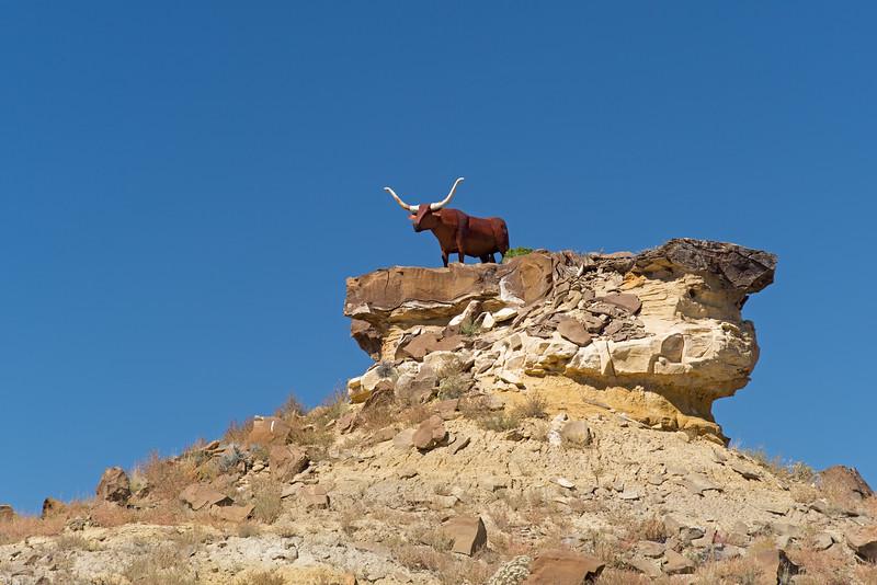 bull sculpture near Chaco Culture National Historic Park
