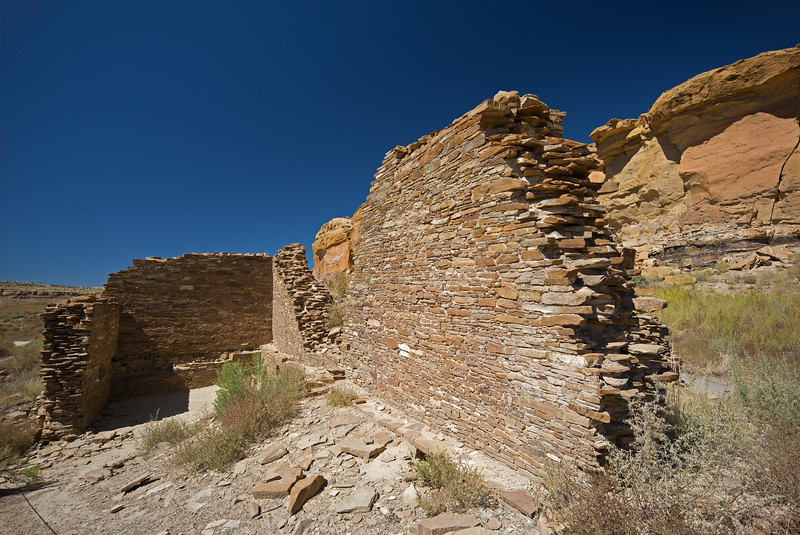 wall fragment Hungo Pavi Chaco Culture National Historic Park