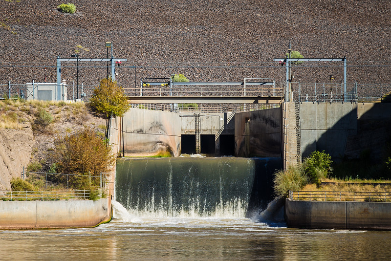 Rio Grande passing through Cochiti Lake Dam