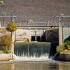 Rio Grande passing through Cochiti Lake Dam