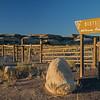 Bisti Wilderness Area sign looking north