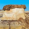 red slab on pedestal Bisti National Wilderness