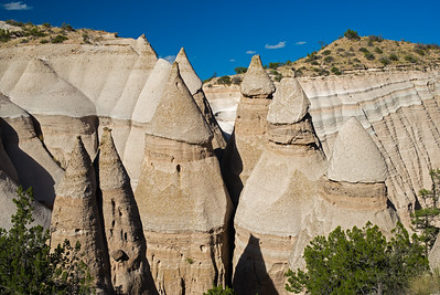 closeup of seven Tent Rocks