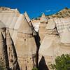 closeup of seven Tent Rocks