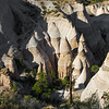 looking down at Tent Rocks