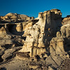 sun-stroked hoodoos Bisti National Wilderness