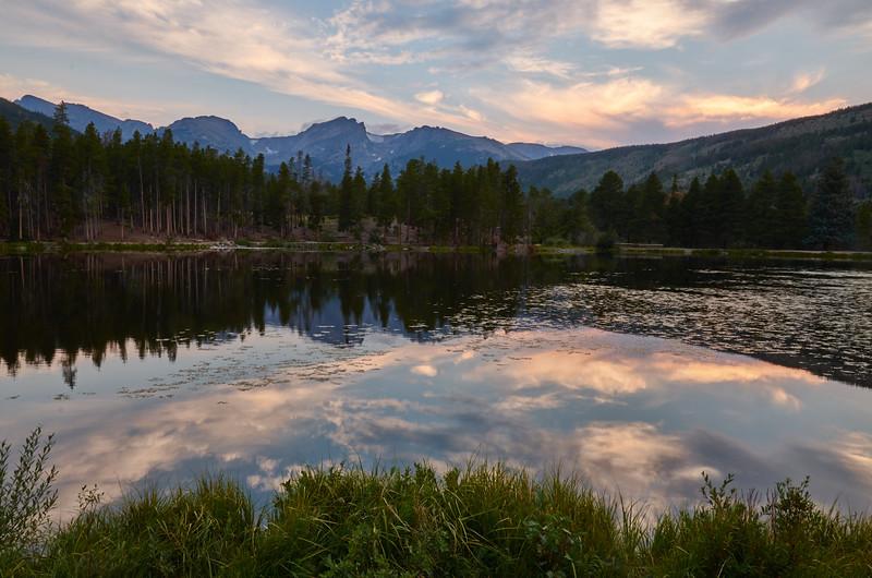 Sprague Lake, sunset
