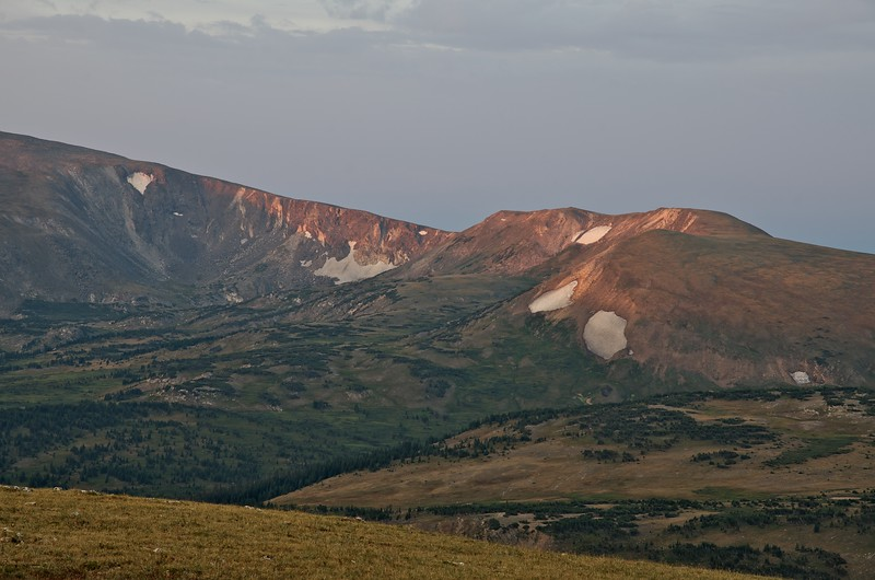 Early evening at the Gore Range overlook