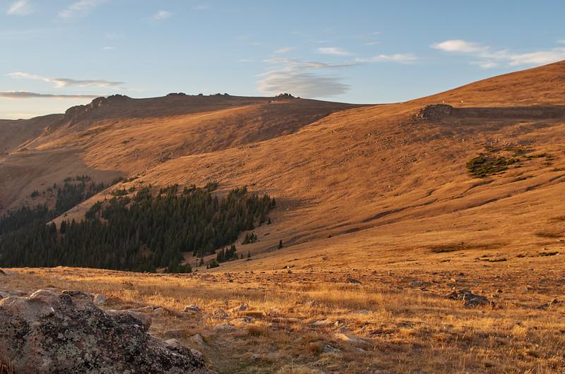 Evening light on the Trail Ridge Road