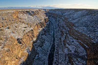 downstream view Rio Grande Gorge