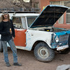Cerillos man with restored International Harvester Scout