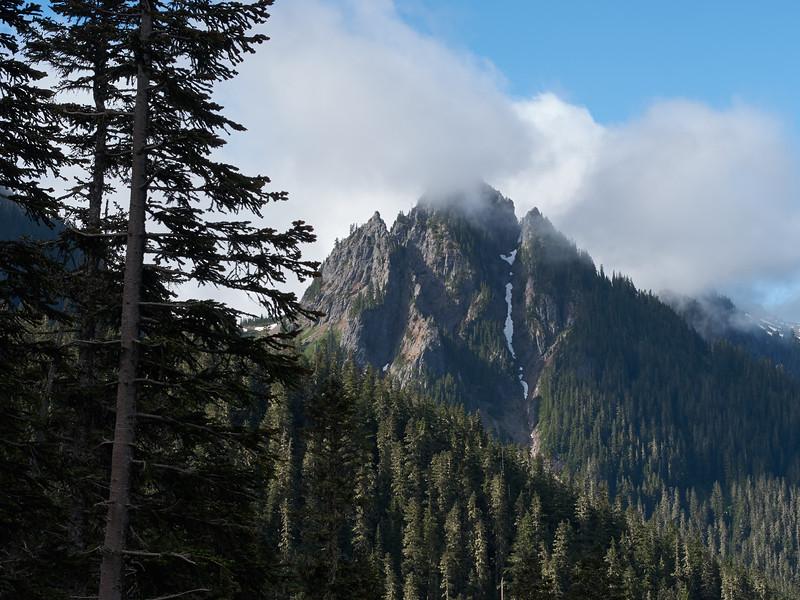 Lane Peak with morning clouds
