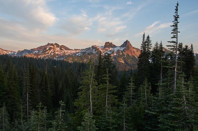Tatoosh Range at Sunset