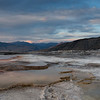 Mammoth Hot Spring Twilight