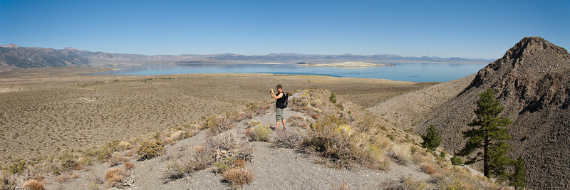 View from Panum Crater, looking toward Mono Lake.  Panum is the smallest of the Mono-Inyo volcanic chain.
