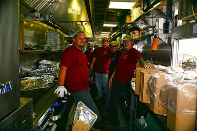 Scofield Catering - kitchen.  Great group of guys.