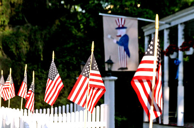 American flags in Pepperell