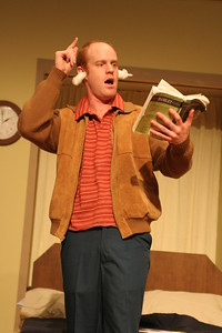 Jud Williford in Mark Jackson's AMERICAN $UICIDE, running February 12 - March 11 at Thick House.  Photo by Clayton Lord.