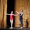 Diana Vishneva and Cory Sterns, Shostakovich Trilogy, June 1, 2013<br /> <br /> Alexei Ratmansky's Shostakovich Trilogy is an exciting, complex, multifaceted work with never a dull moment. Trilogy premiered on Friday, May 31, 2013.  I saw the premier and the Saturday evening performance, which had the same cast. There is a lot going on in the three pieces and it would be difficult to take in all of the action with just one viewing.  I look forward to seeing it in future seasons as even two viewings is not enough to absorb all of the nuances in this fast-paced ballet. Ratmansky's stage is a busy one, with dancers constantly darting in and out of the action, with changing groups and combinations of dancers. <br /> <br /> The work consists of three seemingly unrelated pieces; if they are related, I missed the linkage. The first is Symphony #9, which premiered at City Center in October 2012. The scenery by George Tsypin consists of drawings of World War I-type airplanes, blimps, and  people, some carrying red flags. The two performances I saw featured Polina Semionova and Marcelo Gomes, Herman Cornejo, and Simone Messmer and Craig Salstein. Polina and Marcelo are a great pair and perfectly matched-I saw them in Symphony in C  earlier in the 2013 season. She is becoming one of my favorites at ABT. There are several lighter moments in their dancing with playful movements, demonstrating a sense of humor from Ratmansky. Herman is incredible; in one notable section he performs multiple entrechat six (six beats), each very clean with clear leg separation on the first two leg crossings (four beats), with an exaggerated separation on the last crossing. Very nice. He continues the beats while jumping to stage right and off the stage. Craig Salstein is very expressive and adds a slightly comedic touch. <br /> <br /> The second piece is Chamber Symphony and features David Hallberg-dressed in a jacket with no shirt-as a lost, tormented soul, desperately searching for something. He 