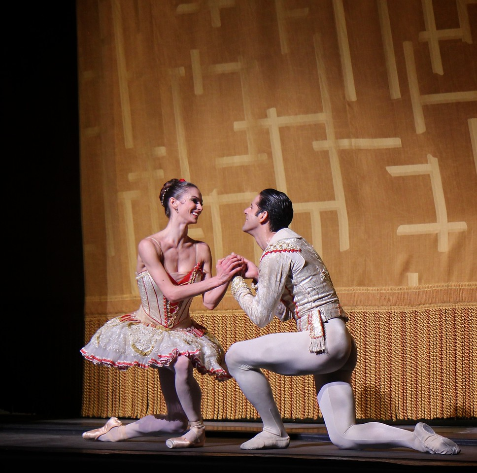 "Polina Semionova and Marcelo Gomes, Don Quixote, May 17, 2014<br /> <br /> Polina Semionova was stunning as Kitri in Don Quixote Saturday night. If there is a better Kitri in the world today, I would like to see it. She was in control throughout the evening, making the difficult and physically demanding role look easy. Standout technical parts include:<br /> <br /> • Endless balances in the Grand Pas de Deux that drew gasps from the crowd. Conductor Ormsby Wilkins had to extend the music, waiting for her to conclude her balance. WOW!!!<br /> <br /> • A nice fouetté section in her final solo that alternated single and double pirouettes with one hand on her hip and other hand overhead on the double. The sequence started out with a quadruple pirouette. It takes a lot of guts to start out a difficult turn sequence with four pirouettes. Usually smaller dancers are better turners, but Polina, at 5'9 inches tall, defies that observation.<br /> <br /> • A scooting rond de jamb diagonal in the second act with nice flowing arms.<br /> <br /> Polina'a technical achievements reinforced rather than detracted from the story line of the ballet; she was always expressive and in character (at times reminding me of former ABT Principal Dancer Irina Dvorovenko) covering a wide range of emotions from defiance of the dolt Gamache and her father, flirting with Basilio (Marcelo Gomes), disapproval of Basilo's staying eyes, and the ultimate joy of capturing Basilio's love.<br /> <br /> Marcelo is a great partner and he showered his attention on Polina (except when he was flirting with the village girls). He added nice touches such as ""dizzy drunk"" pirouettes after imbibing wine offered from a villager and shaking hands with Don Quixote during his solo before starting his coupe jeté section.<br /> <br /> The Grand Pas de Deux was stellar with no rough edges. At times, Marcelo used only one hand to support her turns. Why use two hands when one will do? Marcelo was under pressure after Polina's fouetté section; she confidently turned to him as if to say ""Can you beat that?"" He came through with steady a la seconde turns punctuated with a triple pirouette.<br /> <br /> I need to get out more in the ballet world; I look forward to seeing the Bolshoi and Mikhailovsky Ballet perform Don Quixote in New York later in the year and wonder how anybody can top Polina's performance.<br /> <br /> I enjoyed Hee Seo as Mercedes and Jared Matthews as Espada. Jared, who unfortunately is leaving ABT at the end of the season for Houston Ballet, was a dynamic matador, aggressively spinning his cape on the floor on his entrance. I liked his giant assemble's in his second act solo, which seemed to cover half the stage."