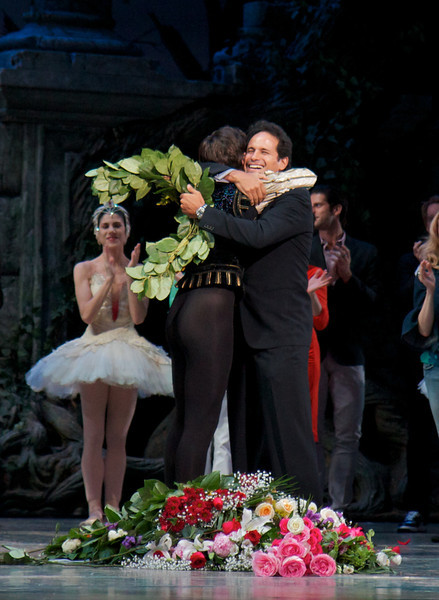 Angel Corella Final Performance, June 28, 2012<br /> <br /> Angel and José Manuel Carreño. Jose was a Principal Dancer at ABT from 1995 to his retirement in 2011.