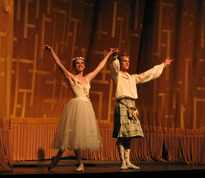 Nina Ananiashvili and David Hallberg, La Sylphide, June 18, 2009