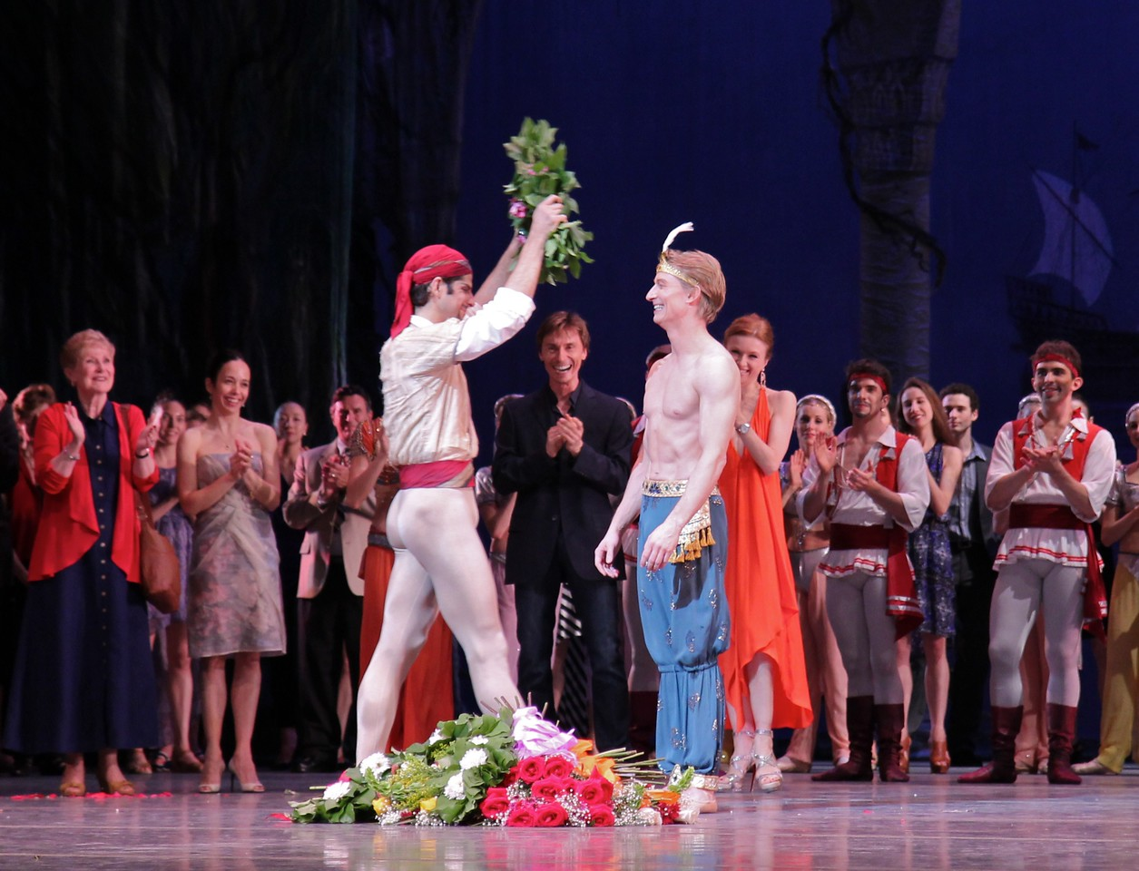 Ethan Stiefel Final Performance, July 7, 2012<br /> <br /> Principal Dancer Marcelo Gomes presents Ethan with a wreath.