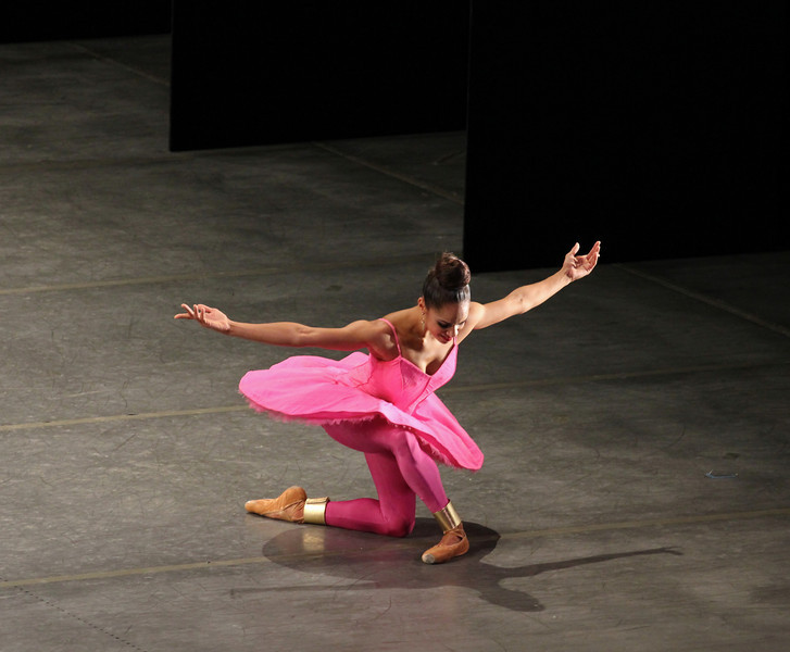 """Misty Copeland, Gong, November 1, 2013 <br><br> I enjoy the contrasts between the ABT fall and spring seasons. The spring season presents full-length classical ballets featuring a limited number of leading dancers providing the bulk of the dancing and dramatic action. By contrast, the fall season showcases a wider range of dancers and repertory. This diversity was on display Friday when ABT performed Les Sylphides, a Michel Fokine work from 1909 set in the Romantic era, and modern works Bach Partita and Gong by Twyla Tharp and Mark Morris, respectively. <br><br> Les Sylphides has no plot and consists of sylphs dancing in the moonlight with a man in white tights, with music that reminds me of Giselle. (Sylphs are mythological creatures in the Western tradition. The term originates in the work of Paracelsus, a Renaissance era physician and founder of the field of toxicology. He described sylphs as invisible beings of the air, which were his elementals of air, according to Wikipedia.) <br><br> The single male in the work is Thomas Forster a member of the Corps getting a shot at a principal role. He was attentive in his partnering of Isabella Boylston, Sarah Lane, and Hee Seo. However, at times during his solo, his upper body was tense, resulting in a slumped over upper body. Sarah Lane was my favorite in this work; the carriage of arms and upper body are key in this ballet and she pulled it off well with light, flowing, airy movements coupled with nice controlled arabesque turns. <br><br> Tharp created Bach Partita for ABT in 1983 and was last performed in 1985. The original cast consisted of Cynthia Gregory, Martine van Hamel, Magali Messac (alternating with Cynthia Harvey), Fernando Bujones, Clark Tippet and Robert La Fosse. <a href=""""http://dancetabs.com/2013/10/bringing-twyla-tharps-bach-partita-back/"""" rel=""""nofollow"""">Marina Harss of DanceTabs</a> explains another challenge of simply re-creating the steps: <br><br> """"There were two tapes of Partita. One, a recording o"""