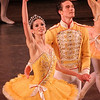 """Polina Semionova and Cory Stearns, Theme and Variations, November 7, 2013<br /> <br /> The ABT mixed rep bill Thursday was nicely diversified with a Balanchine classic (Theme and Variations), an Ashton story ballet (A Month in the Country), and a new Ratmansky work (Piano Concerto #1).<br /> <br /> Ashton's """"A Month in the Country,"""" had its ABT debut in May 2013 at the Met. According to John Gruen's """"The World's Great Ballets,"""" Ashton retired as director and chief choreographer of The Royal Ballet in 1970 and withdrew from public view. However, in 1975, he announced that he would choreograph a ballet inspired by Ivan Turgenev's play by the same name with music by Chopin. The work debuted in 1976 with Lynn Seymour and Anthony Dowell as leads. The work """"...is another example of Ashton's ability to convey a complex dramatic narrative through seamless choreography, without sacrificing any of the original's insightful characterizations, wit, and passion,"""" according to Gruen.<br /> <br /> The curtain opens revealing the spectacular interior of the Yslaev's summer home in the 1850s. The scene reveals a carefree day of leisure in the wealthy Yslaev household as the family is engaged in mundane household activities. Yslaev's wife Natalia Petrovna (Julie Kent) reclines on a sofa with her admirer Rakitin (Grant DeLong) seated on a nearby bench; Kolia (Daniil Simkin), a young son of Yslaev and Natalia, works on his homework while Yslaev (Victor Barbee) sits on a chair reading a newspaper. Vera (Gemma Bond), the Yslaevs' adolescent ward, plays the piano. Yslaev doesn't seem bothered by the presence of a fawning admirer of his wife.<br /> <br /> Tiring of her piano practice, Gemma dances an impetuous, spunky solo filled with youthful energy. Gemma is from England and danced at The Royal Ballet until moving to ABT in 2008. Daniil follows with a spectacular solo while playing with a ball, filled with energetic pirouettes with very wide arms followed by a massive double tour that fi"""