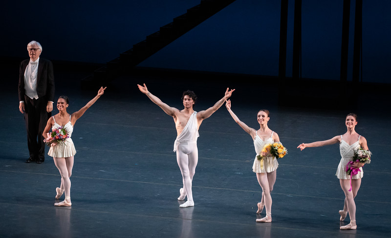Omsby Wilkins, Misty Copeland, Herman Cornejo, Skylar Brandt, Cassandra Trenary, Apollo, Herman Cornejo 20th Anniversary ABT Celebration, October 26, 2019