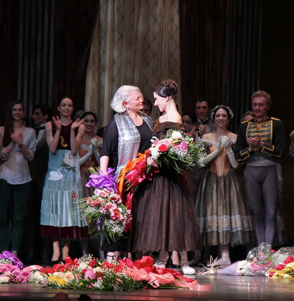 Irina Dvorovenko, May 18, 2013, Irina's Final ABT Performance<br /> <br /> Ballet Mistress and former ABT dancer Susan Jones. Susan played the role of the nurse in the performance.
