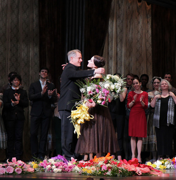 Irina Dvorovenko, Irina's Final ABT Performance, May 18, 2013<br /> <br /> Associate Artistic Director and former Principal Dancer Victor Barbee embraces Irina