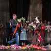 Irina Dvorovenko, Irina's Final ABT Performance, May 18, 2013<br /> <br /> Former ABT Soloist Gennadi Saveliev presents Irina with flowers