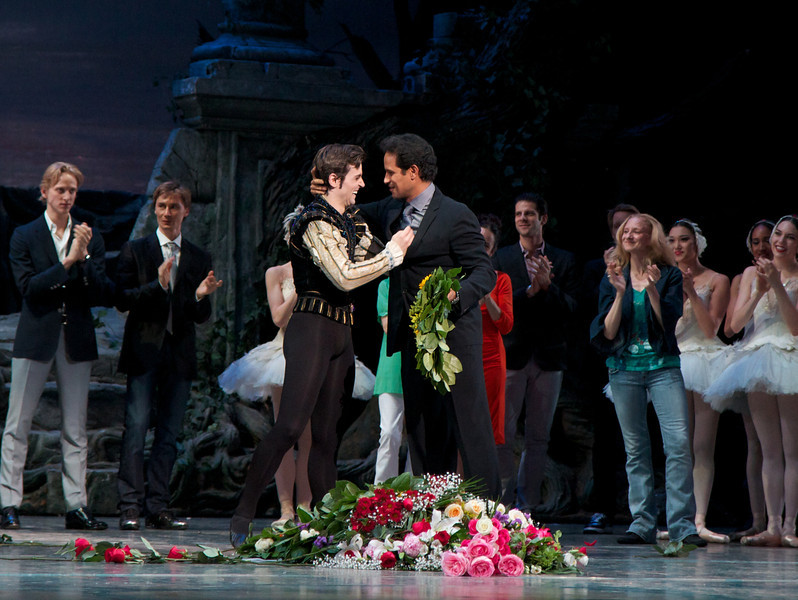 Angel Corella Final Performance, June 28, 2012<br /> <br /> Angel and José Manuel Carreño. Jose was a Principal Dancer at ABT from 1995 until his retirement in 2011.