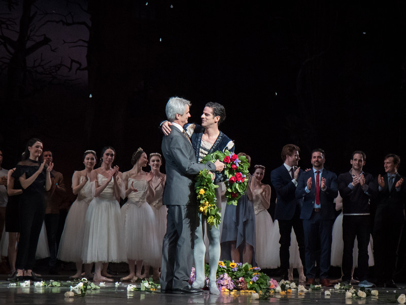 Marcelo Gomes and Kevin McKenzie, Marcelo's 20th Anniversary ABT Performance, Giselle, May 30, 2017
