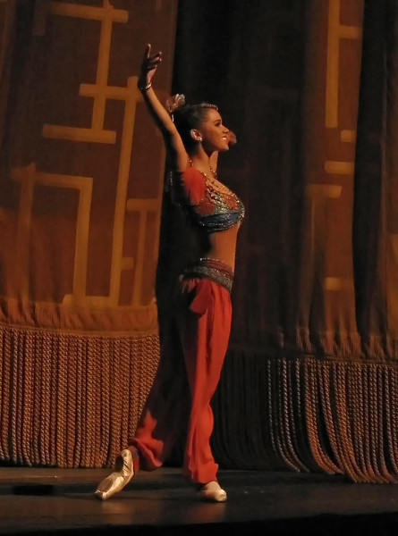 """Misty Copeland, Le Corsaire, May 29, 2009 <br><br> According to <a href=""""http://www.mistycopeland.com/home.html """">Misty's website, </a> she is the third African American female soloist and first in two decades at ABT. She took her first ballet class at the late age of 13 and went en pointe within three months. Misty was offered a full scholarship in 2000 to attend ABT's Summer Intensive Program and was selected to join ABT's Studio Company.  She joined ABT as a member of the Corps De Ballet in 2001 and was promoted to Soloist in 2007.  <br><br> Check out her <a href=""""http://www.mistycopeland.com/home.html """">interesting website </a> for more detail on her career and activities."""
