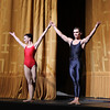 "Natalia Osipova and Ivan Vasiliev, Shostakovich Trilogy, June 1, 2013<br /> <br /> Alexei Ratmansky's Shostakovich Trilogy is an exciting, complex, multifaceted work with never a dull moment. Trilogy premiered on Friday, May 31, 2013.  I saw the premier and the Saturday evening performance, which had the same cast. There is a lot going on in the three pieces and it would be difficult to take in all of the action with just one viewing.  I look forward to seeing it in future seasons as even two viewings is not enough to absorb all of the nuances in this fast-paced ballet. Ratmansky's stage is a busy one, with dancers constantly darting in and out of the action, with changing groups and combinations of dancers. <br /> <br /> The work consists of three seemingly unrelated pieces; if they are related, I missed the linkage. The first is Symphony #9, which premiered at City Center in October 2012. The scenery by George Tsypin consists of drawings of World War I-type airplanes, blimps, and  people, some carrying red flags. The two performances I saw featured Polina Semionova and Marcelo Gomes, Herman Cornejo, and Simone Messmer and Craig Salstein. Polina and Marcelo are a great pair and perfectly matched-I saw them in Symphony in C  earlier in the 2013 season. She is becoming one of my favorites at ABT. There are several lighter moments in their dancing with playful movements, demonstrating a sense of humor from Ratmansky. Herman is incredible; in one notable section he performs multiple entrechat six (six beats), each very clean with clear leg separation on the first two leg crossings (four beats), with an exaggerated separation on the last crossing. Very nice. He continues the beats while jumping to stage right and off the stage. Craig Salstein is very expressive and adds a slightly comedic touch. <br /> <br /> The second piece is Chamber Symphony and features David Hallberg-dressed in a jacket with no shirt-as a lost, tormented soul, desperately searching for something. He moves frenetically around the stage sometimes brushing his hair out of his eyes as he tries to connect with Isabella Boyston, Paloma Herrera, and Julie Kent. The program provides no guidance on the story. I talked to someone after the performance; he said that at a rehearsal, Hallberg's character was disclosed as Shostakovich and the three women represent his three wives. I checked Wikipedia and Shostakovich was married three times. The first marriage had difficulties and ended in divorce. The third marriage was to a much younger woman, ""her only defect is that she is 27 years old. In all other respects she is splendid: clever, cheerful, straightforward and very likeable."" I addition, he survived Stalin's Great Terror while many of his friends and relatives were imprisoned or killed. There are three male dancers dancing in harsh tones, possibly representing threats to Shostakovich from NKVD Soviet Police.<br /> <br /> I found the piece interesting, but wanted more background-who are these women and why is Hallberg's character so frantic and lost? What is he searching for? Not knowing much about Shostakovich, I was a bit lost without any context. Background information in the program such as the detail provided in the rehearsal would have been helpful. <br /> <br /> The third piece, Piano Concerto #1,  is my favorite and features two couples: Natalia Osipova and Ivan Vasiliev, and Diana Vishneva and Cory Stearns. The dancers' bodies are clearly on display as the males wore  unitards (costumes by Keso Deeker) with the females wearing red leotards. Cory and Ivan had greased, slicked-back hair (I didn't recognize Cory on Friday with that look). The scenery consisted of red objects hung in suspension. Some of the objects reminded me of the Soviet hammer and sickle. <br /> <br /> Plenty of non-stop action in this one with the four main dancers appearing in various combinations. Diana and Natalia danced well together and complement each other given their similar physiques. I particularly liked a spectacular double assemble diagonal from Ivan and Cory that drew much applause. Natalia had a grande jete diagonal section in which she seemed to fly. <br /> <br /> I loved the Trilogy and want to see it again in future seasons. I generally have a desire to see multiple casts, but was not disappointed to see the same cast in two consecutive nights given the high level of dancing. I couldn't see many empty seats on either night and the audience seemed to enjoy the performance. I guess that's why ABT wisely hired Ratmansky in the first place."