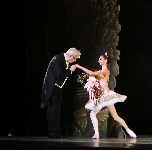 Conductor Ormsby Wilkins, Conductor and Polina Semionova, Sylvia, June 28, 2013