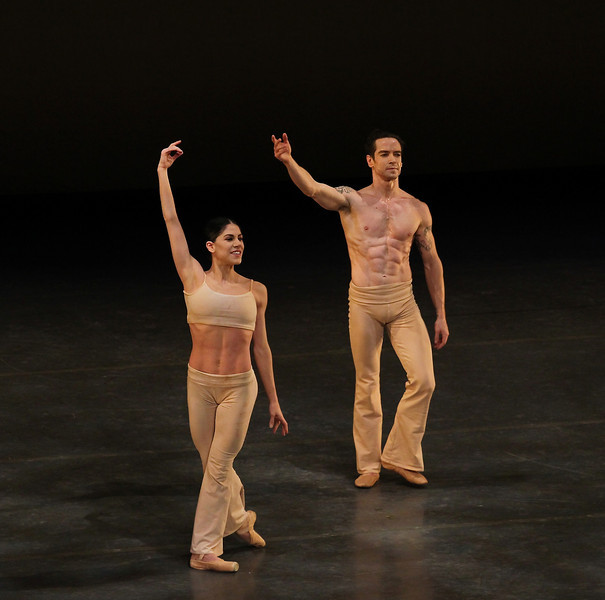 "Paloma Herrera, Sascha Radetsky, Clear, November 2, 2013 <br><br> Theme and Variations is one of my favorites, having seen this Balanchine classic many times. The work, which Ballet Theatre premiered in 1947, was intended to honor the period when Russian ballet flourished with the aid of Tchaikovsky's music. <br><br> ABT performed this work Saturday evening with Polina Semionova and Cory Stearns as leads. Polina was outstanding, completely in control and at ease throughout this difficult piece. Tricky segments include a multiple fouetté turn section with alternating arms into a pas de chat jump, a rapid beat section, and double pirouettes from first position into a pas de chat, all requiring rapid fire execution to keep up with the music. Polina pulled off all of these segments with grace and style, one of the best performances that I have seen from her. Her phrasing with her arms was on the mark with the beautiful Tchaikovsky score. <br><br> Cory was fine although not outstanding in his tough solo variations. The challenging section that male dancers dread consists of a diagonal of rond de jamb leaps followed by sissonne jumps and, just when the dancer is running out of gas, a treacherous eight tour/pirouette section. I heard that James Whiteside and Daniil Simkin struggled this season with the tour/pirouette section; Cory safely navigated this section, although traveled some distance during the turns. His rond de jamb section was not exciting or noteworthy, <br><br> The two danced well together in the pas de deux; Polina completed several long balances as she alternated arms with Cory in support before going into a penchée. <br><br> Speaking of Theme, I ran across a <a href=""https://www.youtube.com/watch?v=OgCareuuxK4"">YouTube clip</a> of Baryshnikov and Kirkland from 1978 on PBS. Baryshnikov's solo at 7:55 is spectacular with his high rond de jamb leaps with alternating arms and perfectly controlled tours. <br><br> Stanton Welch's Clear (2001) featured Sascha Radetsky, Thomas Forster, Daniel Mantei, and six other male dancers all dressed in tan colored pants and no shirt. Paloma Herrera was the sole female dancer. Although some have have criticized the work as sub-standard, I like the piece, which showcases bravura and adagio male dancing set to a beautiful Bach score. <br><br> Sascha was very good as he showed off his washboard abs and numerous tattoos. The piece features a fouetté section in which the dancer changes his spot from the front, to the side, back, side and front again. He executed this quite well along with turns in other sections. Forster and Mantei are members of the Corps and are featured in several leading roles this fall season. They were paired in a duet to slow music, requiring substantial control. David Hallberg excelled in this role which showed off his substantial extension in a développé section. I enjoyed their adagio section Saturday and I look forward to seeing more of their dancing. Craig Salstein had a nice turn/pirouette section similar to Theme and Variations. Joaquin de Luz, now at New York City Ballet, was my favorite in that role, as he would pull of multiple double tours. <br><br> Paloma Herrera worked well with Sascha and the piece ended with the two in a shrinking spotlight. <br><br> Romeo and Juliet is a successful ballet because the plot is simple, allowing someone unfamiliar with the work to follow the storyline of the ballet. In contrast, I knew The Tempest would be a challenge after I read the synopsis three times and still had problems following the plot and the relationship between the 11 main characters in the ballet. The complexity and short period of time (about 40 minutes) to tell the complex story are the main problems with the ballet. Characters such as Ferdinand (Joseph Gorak) just walk in unannounced, their characters completely undeveloped. In one section, a group of women walk in dressed in blue with strange headdresses. I couldn't figure out their function, nor could my smarter half (my wife). In another part, very tall thin things (trees, ornaments?) were rolled on stage. I had no idea of their purpose. The costumes reminded me of a Greenwich Village Halloween parade. <br><br> Although I didn't like the work, I did enjoy the dancing. Marcelo Gomes as Prospero, complemented the lovely Sarah Lane (Miranda, his daughter). Gorak showed his great extension and range as Miranda's future husband. Herman Cornejo was the grotesque Caliban, an inhabitant of the island, impressive in his beast dance. Daniil Simkin showed his technical prowess, featuring his fine double saute de basques. This is a traveling step in which the dancer turns twice in the air with one foot drawn up to the knee of the other leg. He also showed off his trademark pirouettes to a double tour off one leg. <br><br> See Alistair Macaulay of The New York Times <a href=""http://www.nytimes.com/2013/11/01/arts/dance/american-ballet-theater-opens-its-fall-season.html?ref=alastairmacaulay&_r=0"">Alaistair Macaulay of The New York Times,</a> <a href=""http://haglundsheel.typepad.com/haglunds_heel/2013/10/abt-opening-night-1030.html"">Haglund's Heel,</a> and <a href=""http://dancetabs.com/2013/11/american-ballet-theatre-opening-night-gala-tempest-premiere-and-others-new-york/"">Marina Harss of DanceTabs</a> for more commentary on The Tempest."