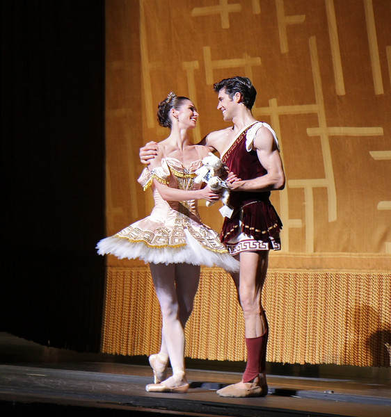 "Polina Semionova and Roberto Bolle, Sylvia, June 28, 2013 <br><br> Frederick Ashton of The Royal Ballet created the ballet in 1952 as a star vehicle for Margot Fonteyn and was performed until 1965. Léo Delibes' score is beautiful, a masterpiece of 19th-century ballet music. Tchaikovsky was so impressed with it that he once observed: ""Had I known Sylvia existed, I would not have dared compose Swan Lake!""  <br><br> A problem arose when The Royal Ballet and ABT agreed to co-produce the revival of Sylvia: the choreography was never notated and the only record was a poorly lit black and white film. Christopher Newton, ballet master under Ashton who danced Sylvia during the 1950s kept handwritten notes of the choreography and reconstructed the some of the steps from memory. In addition, costume designs were found in The Royal Ballet's archives in a mislabeled box along with paintings and photographic records of the original sets. The World Premier of the revival of Sylvia was given by The Royal Ballet in 2004 while ABT debuted its version in 2005. See the <a href=""http://www.abt.org/sylvia/"">ABT website</a> for more detail. <br><br> ABT's star power was on full display in Friday night's Sylvia with Polina Semionova and Roberto Bolle leading the cast. Semionova along with tennis star Novak Djokovic appear in <a href=""http://www.fastretailing.com/eng/group/news/1303191700.html""> UNIQLO AIRism underwear</a> advertisements that appear in New York City subway trains (here is a  <a href=""http://www.youtube.com/watch?v=A-wb1RpfUZg ""> video advertisement</a> featuring Polina). Roberto is one of ballet's biggest stars. He has a huge international following as evidenced by his over 100,000 followers on  <a href=""https://twitter.com/RobertoBolle"">Twitter</a>.  <br><br> Polina was Sylvia, a very demanding role both dramatically and technically. She is onstage almost throughout the performance with several very tiring solos. Sylvia is difficult dramatically as she must run the gamut of roles: she is a powerful leader of an Amazonian tribe; a woman who morns the loss of Aminta after she shoots him with an arrow; a seductress of Orion in an effort to gain her freedom; and finally a woman who falls in lover with Aminta. Polina danced well, except for a diagonal jumping and pirouette section in Act I that seemed a bit off the music. Her solos were beautiful, taking full advantage of her long flowing arms.  <br><br> Bolle was the Aminta the shepherd, who is in love with Sylvia. Roberto was strong and steady throughout, his solos were rock solid without waiver. Technically, he had a nice saute de basque section and had a very nice triple pirouette which finished in releve, pausing a few seconds for effect. His partnering skills are remarkable, showering attention on his beloved Sylvia. Polina and Roberto connected well, particularly when he removes Sylvia's veil, revealing his true love as he is overcome with emotion. Polina and Roberto make a nice pair, dancing in unison with feeling. Several jumping fish dives were done well and drew applause. <br><br> I also noted the corps dancing in Act I of the woodland creatures, an Amazonian tribe dancing in celebration of their hunt. This is a dance of female empowerment with tribe members dancing with bows and arrows: ""Don't mess with us! We rule the forest!"" The dancers were in synch in the fouetté section; not an easy task given they are performing the step with a bow in one hand. Also, the lighting in the first set is beautiful, simulating a blue moonlit night that provides illumination for the dancing. <br><br> Jared Matthews is Orion, the evil hunter. I have seen Jared perform several times this year and this performance continues his hot streak as he is having a very good season. His two pas de deux with Polina were appropriately awkward and tense as Sylvia is trying to escape."