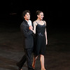 "Herman Cornejo and Luciana Paris, Sinatra Suite, September 17, 2013 <br><br> I knew that the Roberto Bolle and Friends Gala Tuesday at New York's City Center would be a popular event when I walked past the long line of people waiting in the ticket reserve line. Those waiting were not disappointed as the evening featured a diversity of dancing from Roberto and his friends, many from German ballet companies. The evening consisted of 11 unrelated pieces ranging from modern to classical, of which Roberto danced in four.  <br><br> The evening opened with a pas de deux from the full-length ballet Excelsior. I don't know much about the ballet; it is a tribute to the scientific and industrial progress of the 19th century, from the electric light to the telegraph, steam engine, and Suez Canal, according to Wikipedia. Roberto was in skimpy attire (basically a decorated dance belt) while Alina Somova from the Mariinsky Theatre wore a more traditional white ballet dress. The partnering section was fairly short followed by solos featuring fine, controlled jetés, sauté de basques, and coupe jetés from Roberto. Somova ha  a turn section consisting of single and double fouettés and she made it through the section. Well danced but not my favorite performance of the evening.  <br><br> Excelsior was followed by the Act I Romeo and Juliet pas de deux with Alicia Amatriain and Jason Reilly of the Stuttgart Ballet. It was clear that they have partnered together as young, star-crossed lovers in this Cranko (Stuttgart Ballet) version. Filled with emotion and brimming with excitement, the two lovers proclaimed their everlasting love.  <br><br> I've always liked Luciana Paris at American Ballet Theatre (ABT) and would like to see her dance more; happy to see that she is one of Roberto's friends, paired up with another favorite, Herman Cornejo in Twyla Tharp's Sinatra Suite. She always excels in this role at ABT along with another Tharp piece ""In the Upper Room."" Not sure why she does not get more exposure, but that is a topic for another day. Herman was dashing, debonair in a black tuxedo with Luciana in an elegant black gown as they danced to Sinatra favorites such as ""Strangers in the Night"" and ""My Way."" In ""Strangers in the Night,"" Herman tossed off his jacket with a look of indifference and defiance. In another section, he pulled off seven jazz turns effortlessly. In my favorite part, he danced in an intoxicated manner as Sinatra sings ""one more for the road."" Sinatra Suite was a great selection for the evening and the audience roared with approval. <br><br> Elisa Carrillo Cabrera and Mikhail Kaniskin of Staatsballet Berlin danced in Jeunehomme. This piece, choreographed by Uwe Scholz, was set to music by Mozart. This was a contemporary piece with the dancers are dressed in black. Cabrera and Kaniskin were precise in their intricate movements with Cabrera showing great extension. Their characters seemed frustrated as they were missing and longing for something. Near the end, he walked off the stage, and she was lost without him. He reappeared at the end and they embraced. I liked this piece with difficult partnering sequences, one of my favorites of the night.  <br><br> My least favorite was Le Grand Pas de Deux with Roberto and Alicia Amatriain of the Stuttgart Ballet. This was a silly, stupid, and a pointless comedy piece in which Amatriain walked down the aisle in the beginning on her way to the stage wearing glasses and toting a purse. Roberto was in a Nutcracker type costume. It was classical ballet interspersed with disco. In one section, Alicia completed a very good series of fouettés only to stagger around stage on the verge of vomiting while Roberto was working on a turn section in second position. Not sure why this was put in the program but some in the audience were amused. <br><br> Roberto and Erika Gaudenzi, listed in the program as a Young Italian Talent, Opera House, Rome, opened the second part of the evening with a dramatic pas de deux from L'Arlesienne. I am not familiar with the ballet so it was difficult to follow what was going on. He seemed disturbed about something and then removed his shirt. This was a recurring theme in the evening as the men more often than not were shirtless, showing off their toned bodies. Roberto danced a long introspective, wandering solo that was very well done.  <br><br> Kazimir's Colours with Elisa Carrillo Cabrera and Mikhail Kaniskin were next, set to music by Shostakovich. The music was particularly memorable and dramatic, set to this contemporary piece, with the dancers wearing gym attire.  <br><br> When I arrived, I immediately focused in eager anticipation of the Tchaikovsky Pas de Deux by Balanchine with Herman Cornejo and Maria Kochetkova of the San Francisco Ballet. Maria danced with Herman in Swan Lake and Sleeping Beauty, filling in for the injured Alina Cojocaru in the ABT spring season. They make a nice pair, as she is shorter than Herman and light as a feather. Notable parts were Herman's massive double cabriole derrière, high leaps, entrechat six, double assembles, and double tours to the knee. She was very fast in her spunky solo with a jumping arabesque on releve and very rapid turns and fouettés. She was a very proficient turner.  <br><br> Next was a very interesting modern piece, Mona Lisa with Alicia Amatriain and Jason Reilly opening with creaky doors and fog. (The last time I saw fog at City Center was for ABT's In the Upper Room. That evening,  a zealous stagehand in charge of dry ice pumped massive amounts of fog onto the stage, obscuring all of the dancers. After about 10 minutes with screaming from the audience, the curtain closed and the ballet was restarted after the fog lifted.) Rather than me describing it, take a look at this <a href=""http://www.youtube.com/watch?v=GlScLv2Tyz8"">Youtube clip.</a> A very entertaining 8 minutes.  <br><br> What would a gala be like without the Dying Swan, choreographed by Fokine? Alina Somova was the unfortunate swan, dancing in beautiful Russian form. <br><br> Last was Prototype, a solo for Roberto by Massimiliano Volpini.  A large video screen lined the back of the stage with computer-related images of a human body (ultimately Roberto's) and modern techno-type music. The screen then showed various high-tech images with Roberto interacting with the screen, dancing in unison with the images. At one point, the screen showed examples of ballet steps, which Roberto replicated. Off for a costume change into skin-colored trunks. The theme then turned to classical as he danced to Romeo and Juliet and Swan Lake. Off for another costume change into jeans and a jean jacket so he could dance with images of multiple Robertos on the screen. The interplay with Roberto and the images was unique, revealing his great technique and diversity. <br><br> Roberto was joined on stage by the dancers to a well-deserved rousing ovation by the appreciative, full-house crowd."