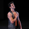 """Roberto Bolle, Prototype, September 17, 2013 <br><br> I knew that the Roberto Bolle and Friends Gala Tuesday at New York's City Center would be a popular event when I walked past the long line of people waiting in the ticket reserve line. Those waiting were not disappointed as the evening featured a diversity of dancing from Roberto and his friends, many from German ballet companies. The evening consisted of 11 unrelated pieces ranging from modern to classical, of which Roberto danced in four.  <br><br> The evening opened with a pas de deux from the full-length ballet Excelsior. I don't know much about the ballet; it is a tribute to the scientific and industrial progress of the 19th century, from the electric light to the telegraph, steam engine, and Suez Canal, according to Wikipedia. Roberto was in skimpy attire (basically a decorated dance belt) while Alina Somova from the Mariinsky Theatre wore a more traditional white ballet dress. The partnering section was fairly short followed by solos featuring fine, controlled jetés, sauté de basques, and coupe jetés from Roberto. Somova ha  a turn section consisting of single and double fouettés and she made it through the section. Well danced but not my favorite performance of the evening.  <br><br> Excelsior was followed by the Act I Romeo and Juliet pas de deux with Alicia Amatriain and Jason Reilly of the Stuttgart Ballet. It was clear that they have partnered together as young, star-crossed lovers in this Cranko (Stuttgart Ballet) version. Filled with emotion and brimming with excitement, the two lovers proclaimed their everlasting love.  <br><br> I've always liked Luciana Paris at American Ballet Theatre (ABT) and would like to see her dance more; happy to see that she is one of Roberto's friends, paired up with another favorite, Herman Cornejo in Twyla Tharp's Sinatra Suite. She always excels in this role at ABT along with another Tharp piece """"In the Upper Room."""" Not sure why she does not get more exposure, but tha"""