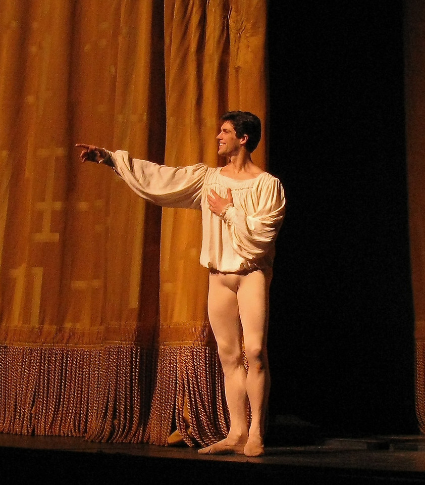 "Roberto Bolle, Romeo and Juliet, July 11, 2009 <br><br> Italian Roberto Bolle is one of ballet's biggest stars. He has a huge international following as evidenced by his over 90,000 followers on <a href=""https://twitter.com/RobertoBolle"">Twitter</a>; photos on <a href=""http://www.flickr.com/photos/robertobollefanclub/"">his flickr fanclub</a> have attracted about 100,000 views.  <br><br> Bolle entered the La Scala Theatre Ballet School at age 11. According to <a href=""http://www.robertobolle.com/ "">his website.</a> Rudolf Nureyev noticed his talent and chose him to interpret a role in the ballet Death in Venice. He joined the Theatre Company in 1994 and was promoted to Principal in 1996 at age 20.  <br><br> Since then he has become an international superstar, having danced with the Royal ballet, American Ballet Theatre (ABT), the National Ballet of Canada, the Stuttgart Ballet, the Finnish National Ballet, the Staatballett Berlin, the Vienna Staatsoper Ballett, the Staatsoper in Dresden, the Munich Ballet,  and the Tokyo Ballet. He has starred in many contemporary and classical ballets such as Sleeping Beauty, Cinderella, Don Quixote, Swan Lake, The Nutcracker, La Bayadère, Giselle, La Sylphide, Manon, Romeo and Juliet, Onegin, and The Merry Widow.  <br><br> His notable performances include: •	In 2000, he opened the season at Covent Garden Opera House in London. •	In 2000, he was invited by the Bolshoi Ballet to celebrate Maya Plisetskaya's 75th birthday in the presence of President Vladimir Putin. •	In 2002, Bolle danced on the occasion of Queen Elizabeth's Golden Jubilee at Buckingham Palace in the presence of the Queen. The event was broadcast live. •	In 2004, he danced in front of Pope John Paul II in Saint Peter's square to celebrate young people's day. •	In 2004, he danced with Alessandra Ferri to celebrate the re-opening of La Scala Theatre after its restoration. •	In 2005 at Covent Garden Opera House in London, he danced in Sylvia. The BBC broadcast the performance on Christmas Day. •	In 2006, Bolle danced at the opening ceremony of the 2006 Winter Olympic Games in Turin where he performed a solo created for him by Enzo Cosimi.  •	In 2007 he performed for the first time with ABT as a guest artist, on the occasion of Alessandra Ferri's farewell performance. <br><br> His numerous partners include Altynai Asylmuratova, Darcey Bussell, Lisa-Marie Cullum, Viviana Durante, Alessandra Ferri, Carla Fracci, Isabelle Guérin, Sylvie Guillem, Greta Hodgkinson, Margareth Illmann, Susan Jaffe, Lucia Lacarra, Agnès Letestu, Marianela Nuñez, Elena Pankova, Lisa Pavane, Darja Pavlenko, Laetitia Pujol, Tamara Rojo, Polina Semionova, Diana Vishneva, Zenaida Yanowsky, Svetlana Zakharova.  <br><br> For the 2009 Spring Season at the Metropolitan Opera House in New York, he performed as a Principal Dancer with the American Ballet Theatre. Since December 1998 he has been Resident Guest Artist at La Scala Theatre. During the 2003/2004 season he was promoted to Etoile at La Scala Theatre.  <br><br> Since 1999 he has been a Goodwill Ambassador for UNICEF and in 2006 he visited Sudan on his first trip into the field."