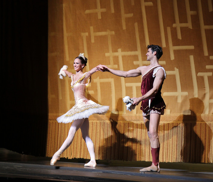 """Polina Semionova and Roberto Bolle, Sylvia, June 28, 2013 <br><br> Frederick Ashton of The Royal Ballet created the ballet in 1952 as a star vehicle for Margot Fonteyn and was performed until 1965. Léo Delibes' score is beautiful, a masterpiece of 19th-century ballet music. Tchaikovsky was so impressed with it that he once observed: """"Had I known Sylvia existed, I would not have dared compose Swan Lake!""""  <br><br> A problem arose when The Royal Ballet and ABT agreed to co-produce the revival of Sylvia: the choreography was never notated and the only record was a poorly lit black and white film. Christopher Newton, ballet master under Ashton who danced Sylvia during the 1950s kept handwritten notes of the choreography and reconstructed the some of the steps from memory. In addition, costume designs were found in The Royal Ballet's archives in a mislabeled box along with paintings and photographic records of the original sets. The World Premier of the revival of Sylvia was given by The Royal Ballet in 2004 while ABT debuted its version in 2005. See the <a href=""""http://www.abt.org/sylvia/"""">ABT website</a> for more detail. <br><br> ABT's star power was on full display in Friday night's Sylvia with Polina Semionova and Roberto Bolle leading the cast. Semionova along with tennis star Novak Djokovic appear in <a href=""""http://www.fastretailing.com/eng/group/news/1303191700.html""""> UNIQLO AIRism underwear</a> advertisements that appear in New York City subway trains (here is a  <a href=""""http://www.youtube.com/watch?v=A-wb1RpfUZg """"> video advertisement</a> featuring Polina). Roberto is one of ballet's biggest stars. He has a huge international following as evidenced by his over 100,000 followers on  <a href=""""https://twitter.com/RobertoBolle"""">Twitter</a>.  <br><br> Polina was Sylvia, a very demanding role both dramatically and technically. She is onstage almost throughout the performance with several very tiring solos. Sylvia is difficult dramatically as she must run the gamut o"""