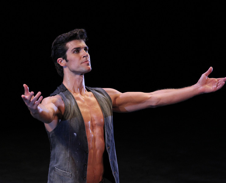"Roberto Bolle, Prototype, September 17, 2013 <br><br> I knew that the Roberto Bolle and Friends Gala Tuesday at New York's City Center would be a popular event when I walked past the long line of people waiting in the ticket reserve line. Those waiting were not disappointed as the evening featured a diversity of dancing from Roberto and his friends, many from German ballet companies. The evening consisted of 11 unrelated pieces ranging from modern to classical, of which Roberto danced in four.  <br><br> The evening opened with a pas de deux from the full-length ballet Excelsior. I don't know much about the ballet; it is a tribute to the scientific and industrial progress of the 19th century, from the electric light to the telegraph, steam engine, and Suez Canal, according to Wikipedia. Roberto was in skimpy attire (basically a decorated dance belt) while Alina Somova from the Mariinsky Theatre wore a more traditional white ballet dress. The partnering section was fairly short followed by solos featuring fine, controlled jetés, sauté de basques, and coupe jetés from Roberto. Somova ha  a turn section consisting of single and double fouettés and she made it through the section. Well danced but not my favorite performance of the evening.  <br><br> Excelsior was followed by the Act I Romeo and Juliet pas de deux with Alicia Amatriain and Jason Reilly of the Stuttgart Ballet. It was clear that they have partnered together as young, star-crossed lovers in this Cranko (Stuttgart Ballet) version. Filled with emotion and brimming with excitement, the two lovers proclaimed their everlasting love.  <br><br> I've always liked Luciana Paris at American Ballet Theatre (ABT) and would like to see her dance more; happy to see that she is one of Roberto's friends, paired up with another favorite, Herman Cornejo in Twyla Tharp's Sinatra Suite. She always excels in this role at ABT along with another Tharp piece ""In the Upper Room."" Not sure why she does not get more exposure, but that is a topic for another day. Herman was dashing, debonair in a black tuxedo with Luciana in an elegant black gown as they danced to Sinatra favorites such as ""Strangers in the Night"" and ""My Way."" In ""Strangers in the Night,"" Herman tossed off his jacket with a look of indifference and defiance. In another section, he pulled off seven jazz turns effortlessly. In my favorite part, he danced in an intoxicated manner as Sinatra sings ""one more for the road."" Sinatra Suite was a great selection for the evening and the audience roared with approval. <br><br> Elisa Carrillo Cabrera and Mikhail Kaniskin of Staatsballet Berlin danced in Jeunehomme. This piece, choreographed by Uwe Scholz, was set to music by Mozart. This was a contemporary piece with the dancers are dressed in black. Cabrera and Kaniskin were precise in their intricate movements with Cabrera showing great extension. Their characters seemed frustrated as they were missing and longing for something. Near the end, he walked off the stage, and she was lost without him. He reappeared at the end and they embraced. I liked this piece with difficult partnering sequences, one of my favorites of the night.  <br><br> My least favorite was Le Grand Pas de Deux with Roberto and Alicia Amatriain of the Stuttgart Ballet. This was a silly, stupid, and a pointless comedy piece in which Amatriain walked down the aisle in the beginning on her way to the stage wearing glasses and toting a purse. Roberto was in a Nutcracker type costume. It was classical ballet interspersed with disco. In one section, Alicia completed a very good series of fouettés only to stagger around stage on the verge of vomiting while Roberto was working on a turn section in second position. Not sure why this was put in the program but some in the audience were amused. <br><br> Roberto and Erika Gaudenzi, listed in the program as a Young Italian Talent, Opera House, Rome, opened the second part of the evening with a dramatic pas de deux from L'Arlesienne. I am not familiar with the ballet so it was difficult to follow what was going on. He seemed disturbed about something and then removed his shirt. This was a recurring theme in the evening as the men more often than not were shirtless, showing off their toned bodies. Roberto danced a long introspective, wandering solo that was very well done.  <br><br> Kazimir's Colours with Elisa Carrillo Cabrera and Mikhail Kaniskin were next, set to music by Shostakovich. The music was particularly memorable and dramatic, set to this contemporary piece, with the dancers wearing gym attire.  <br><br> When I arrived, I immediately focused in eager anticipation of the Tchaikovsky Pas de Deux by Balanchine with Herman Cornejo and Maria Kochetkova of the San Francisco Ballet. Maria danced with Herman in Swan Lake and Sleeping Beauty, filling in for the injured Alina Cojocaru in the ABT spring season. They make a nice pair, as she is shorter than Herman and light as a feather. Notable parts were Herman's massive double cabriole derrière, high leaps, entrechat six, double assembles, and double tours to the knee. She was very fast in her spunky solo with a jumping arabesque on releve and very rapid turns and fouettés. She was a very proficient turner.  <br><br> Next was a very interesting modern piece, Mona Lisa with Alicia Amatriain and Jason Reilly opening with creaky doors and fog. (The last time I saw fog at City Center was for ABT's In the Upper Room. That evening,  a zealous stagehand in charge of dry ice pumped massive amounts of fog onto the stage, obscuring all of the dancers. After about 10 minutes with screaming from the audience, the curtain closed and the ballet was restarted after the fog lifted.) Rather than me describing it, take a look at this <a href=""http://www.youtube.com/watch?v=GlScLv2Tyz8"">Youtube clip.</a> A very entertaining 8 minutes.  <br><br> What would a gala be like without the Dying Swan, choreographed by Fokine? Alina Somova was the unfortunate swan, dancing in beautiful Russian form. <br><br> Last was Prototype, a solo for Roberto by Massimiliano Volpini.  A large video screen lined the back of the stage with computer-related images of a human body (ultimately Roberto's) and modern techno-type music. The screen then showed various high-tech images with Roberto interacting with the screen, dancing in unison with the images. At one point, the screen showed examples of ballet steps, which Roberto replicated. Off for a costume change into skin-colored trunks. The theme then turned to classical as he danced to Romeo and Juliet and Swan Lake. Off for another costume change into jeans and a jean jacket so he could dance with images of multiple Robertos on the screen. The interplay with Roberto and the images was unique, revealing his great technique and diversity. <br><br> Roberto was joined on stage by the dancers to a well-deserved rousing ovation by the appreciative, full-house crowd."