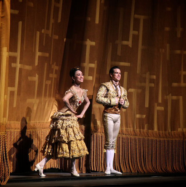 "Stella Abrera and Sascha Radetsky, Don Quixote, May 15, 2014 <br><br> I'm always excited at the beginning of every ABT season, anticipating the great performances that lie ahead. While New York City Ballet presents important choreography from Balanchine and Robbins with dancers as somewhat interchangeable parts, ABT's Spring Met season is a celebration of individual technical achievement set to ballets that sometimes do not meet the approval of critics (see New York Times reviews from dance critics <a href=""http://www.nytimes.com/2013/07/08/arts/dance/american-ballet-theater-presents-sleeping-beauty.html?_r=0"">Alastair Macaulay</a> and <a href=""http://www.nytimes.com/2014/05/15/arts/dance/american-ballet-theater-performs-don-quixote.html"">Gia Kourlas</a>). ABT's repertory is fodder for critics complaining of mind numbing ""warhorse"" ballets fulfilling lowbrow consumer tastes. However, few people care. ABT audiences are not searching for subtle choreographic interpretation or the meaning of life. They're looking to see bravura dancing at its finest, with the story a backdrop for the dancing. <br><br> Full throttle bravura dancing was on display Thursday evening with Herman Cornejo and Maria Kochetkova as leads. Herman is a rare, once-in-a-lifetime talent, a master of his craft at the peak of his powers. The ballet showed off his turning skills as he regularly ripped off 6-7 turns, many with one hand on his hip and some ending in a double tour to the knee. In the second act, he had a nice diagonal consisting of four consecutive double saut de basques. He played an energetic but at times subdued Basilio. <br><br> His partner was San Francisco Ballet Principal Dancer Maria Kochetkova. They make a nice pair as he is 5'6 and she stands at 5 feet tall and light as a feather. Her small frame came in handy in the one-handed lifts, where he held her over his head for over five seconds. She had an impressive diagonal of turns in first position, alternating single and double pirouettes. I've seen Maria dance several times; once with Herman and the other with San Francisco Ballet. I wasn't overly impressed as she appeared tense and stiff. However, tonight, she was relaxed and full of vigor. <br><br> I really enjoyed her solos in the pas de deux, particularly the fouetté section where she alternated between single and double fouettés as many women do these days. But at the end she added a unique twist, quarter turns in which she would spot to the side, back, other side, and front again, winding it up with a nice double (maybe triple) to the knee. <br><br> Herman seemed subdued in his Act III solos, which was a bit of a letdown after great dancing in the first two acts. He did not include his signature monster double cabrioles to the front, opting for a double assemble-type step. Also, straightforward barrel turn jumps at the end of his second solo. His turn section was fine, turns in second with four turns, winding it up with a triple pirouette to a double tour. <br><br> Stella Abrera and husband Sascha Radetsky were very effective as Mercedes and Espada. Their expressiveness makes these roles work. During his solo, he turned his head to flirt with a village girl, primped his hair, and flashed a grin to the audience. Stella exuded confidence, even when her matador strayed. Stella had double duty as she also beautifully danced the Queen of the Dryads role in the second act. <br><br> Others that stood out were Craig Salstein as the dolt Gamache and Gabe Stone Shayer as the lead Gypsy. Craig added nuances to the role that I have never seen before, providing a new perspective. Gabe handled the tricky parts of the gypsy solo well, with nice pirouettes and three consecutive double tours."