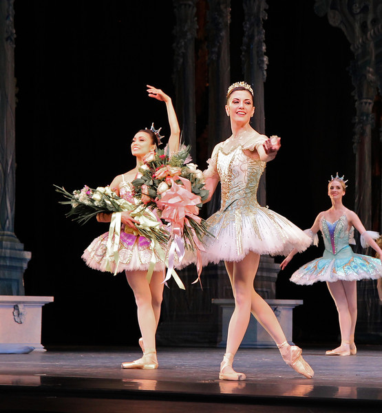 Veronika Part and Stella Abrera, Sleeping Beauty, July 6, 2013<br /> <br /> Veronika Part was spectacular as Aurora in ABT's final Met performance of 2013 of Sleeping Beauty. From the moment she appeared on the balcony and descended the stairs to join her 16th birthday party, Veronika took command of the stage with energy, confidence, and style with precise technique and grace, taking full advantage of her long, pure, elegant line and nice turnout and extension. I have not seen Aurora performed this well in a long time. <br /> <br /> Veronika performed the difficult Rosa Adagio nicely with great control and confidence. Some dancers perform this adagio well but with a nervous look of an impending root canal; from my vantage point she did not display any anxiety before or during the adagio. During her balances, she raised her arms to fifth en haut (arms above her head) with a pause before placing her hand down to her next prince. Some dancers do not raise their arms to fifth position, but quickly and anxiously grab the hand of the next partner in desperation. Not Veronika as there were no rough edges Saturday evening. After the adagio in the forest scene, she performed a nice solo with ronde de jambe to a jete diagonal that was uniquely done. Also notable during the pas de deux solo was the way she moved her hands in sync to the beautiful music. <br /> <br /> Marcelo Gomes perfectly complemented Veronika as Prince Desire. He also has a nice long line and great extension. He is a perfect prince as he showered attention to his new love, beaming in admiration. He partnered her effortlessly throughout and his solos were also graceful with nice deep plies ending in a tight fifth position on his tours and jumps. He makes dancing look very easy, a sign of a great dancer. <br /> <br /> Stella Abrera was also very good as the Lilac Fairy. She was particularly convincing in Act II when she convinces Prince Desire to stay in the mysterious forest by granting him a vision of Auro