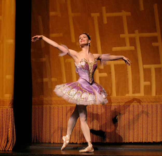"""Veronika Part, Sleeping Beauty, June 21, 2008 <br><br> Veronika Part is from St. Petersburg, Russia and began her early training in artistic gymnastics before entering the Vaganova Ballet Academy in 1988. Veronika graduated in 1996 and joined the Kirov Ballet. She was promoted to soloist in 1998 and won the BALTIKA Prize in 1999. She joined ABT as a Soloist in 2002 and was promoted to Principal Dancer in 2009. Veronika is a favorite of prominent ballet blogger <a href=""""http://haglundsheel.typepad.com/haglunds_heel/2012/11/notmydayjobphotography.html"""">Haglund's Heel.</a>"""